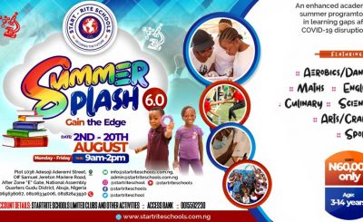 Summer Programme at one the best schools in Abuja, Start-Rite Schools, Abuja